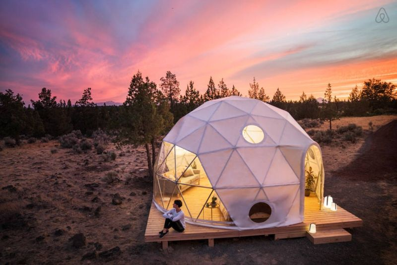 The Airbnb dome