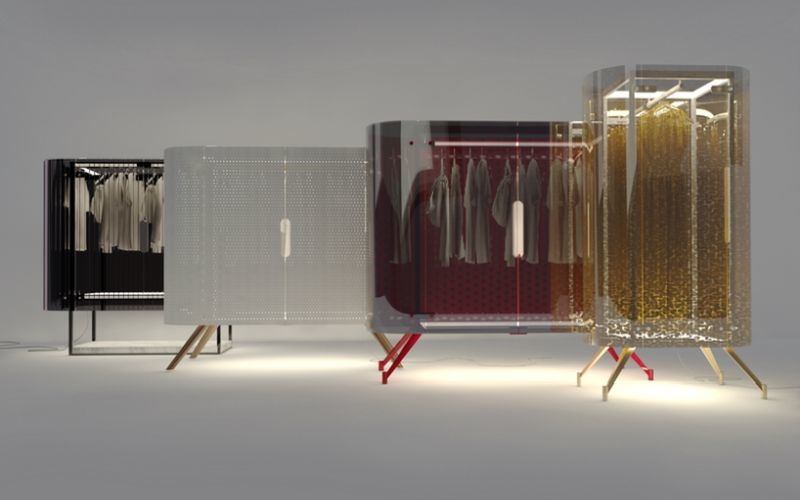 Alex Schulz reimagines traditional armoir with a spotlight on your clothes
