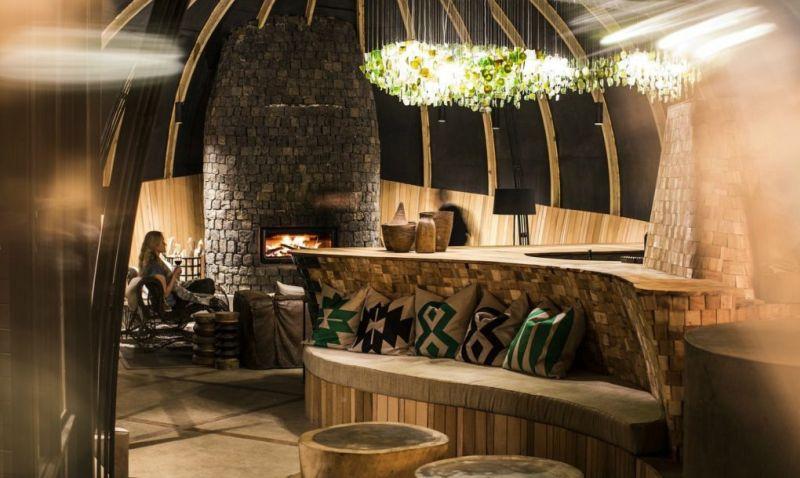 Bisate Lodge's interior in Rwanda