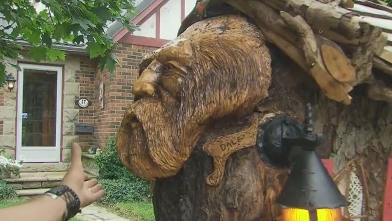 Brampton man carves miniature fairytale treehouse