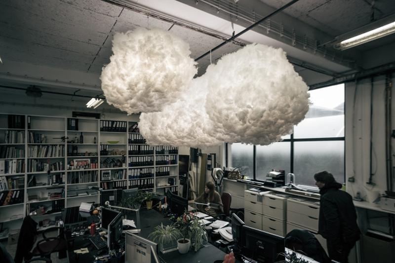 Ceiling hanging cloud lamp