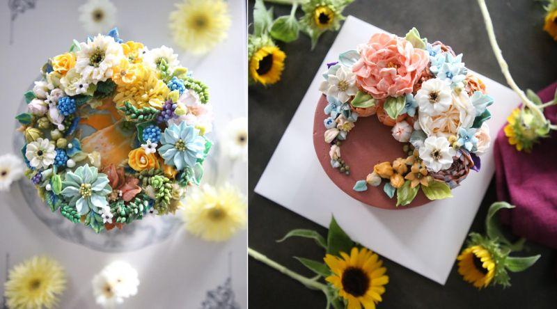 Buttercream flower cake by Atelier Soo
