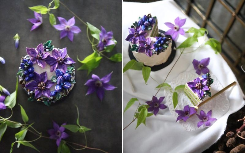 Seoul-based pastry chef Atelier created floral cake