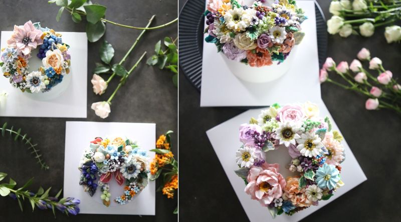 Buttercream floral cake by Atelier Soo
