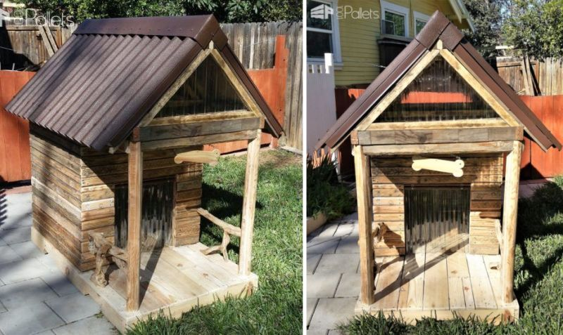 This Diy Large Pallet Doghouse Can Be Turned Into A Kids Playhouse