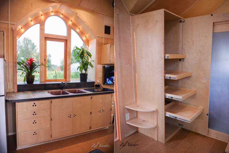 Damselfly tiny house on wheels by Zyl Vardos