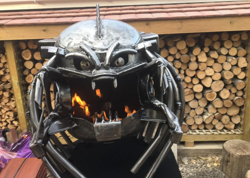 Darth Vader firepit by Burned by Design