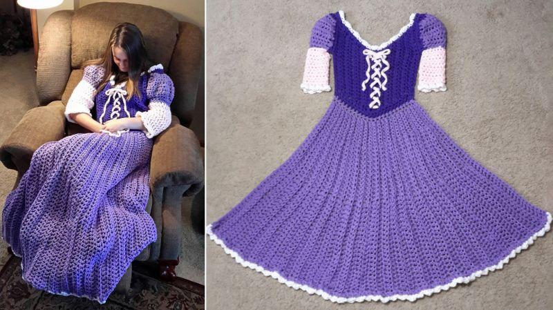Disney-inspired blanket dress
