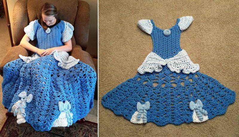 Disney-inspired blankets to look like princess dress