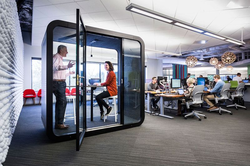 Framery Q meeting pods provides personal space to offices