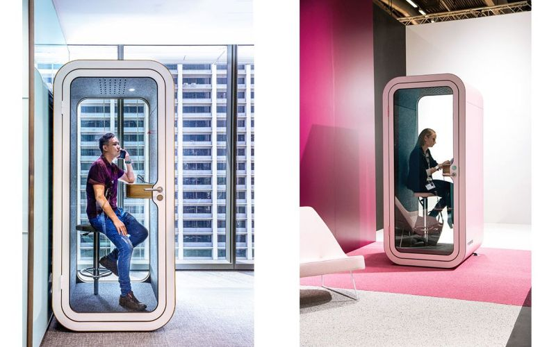 Framer Phone booth to get rid of office noise