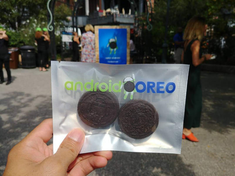 Google launches much-awaited mobile OS with Oreo's branded Android cookies