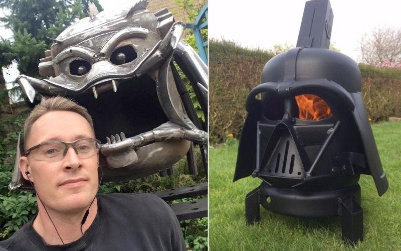 interview with alex dodson the man behind darth vader firepit. Black Bedroom Furniture Sets. Home Design Ideas