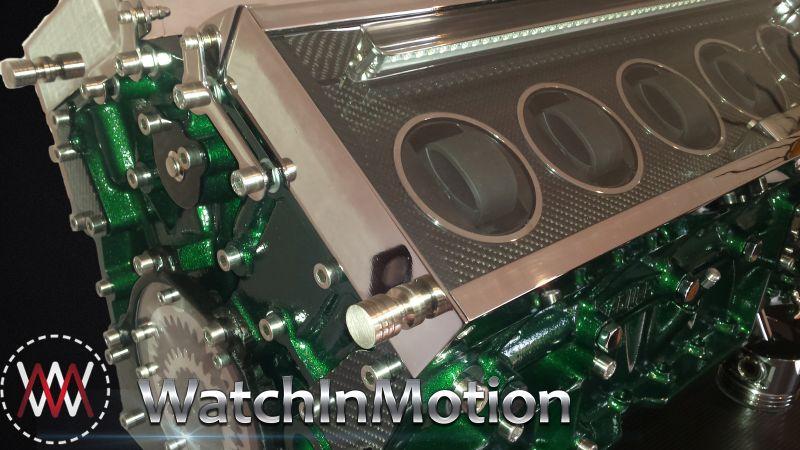 JAGUAR BRITISH GREEN RACING Watch Winder by watch in motion