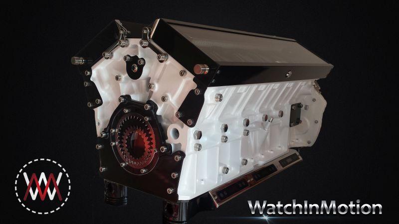 Jaguar White Watch Winder Watchin Motion