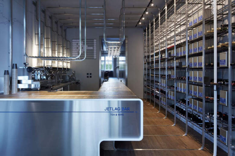 Jetlag tea & wine bar by Mimosa Architects in Prague