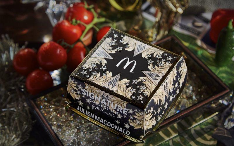 Julien Macdonald's sumptuous burger box for McDonald's bun hits UK