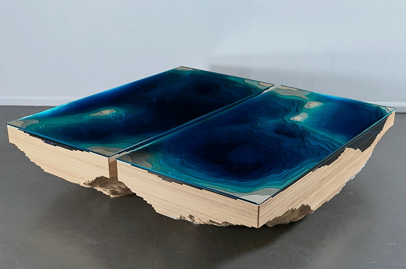 Kraken Abyss lagoon table by Duffy London