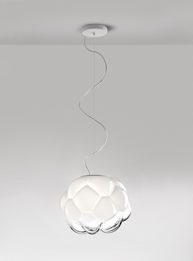 blown glass cloud lamp