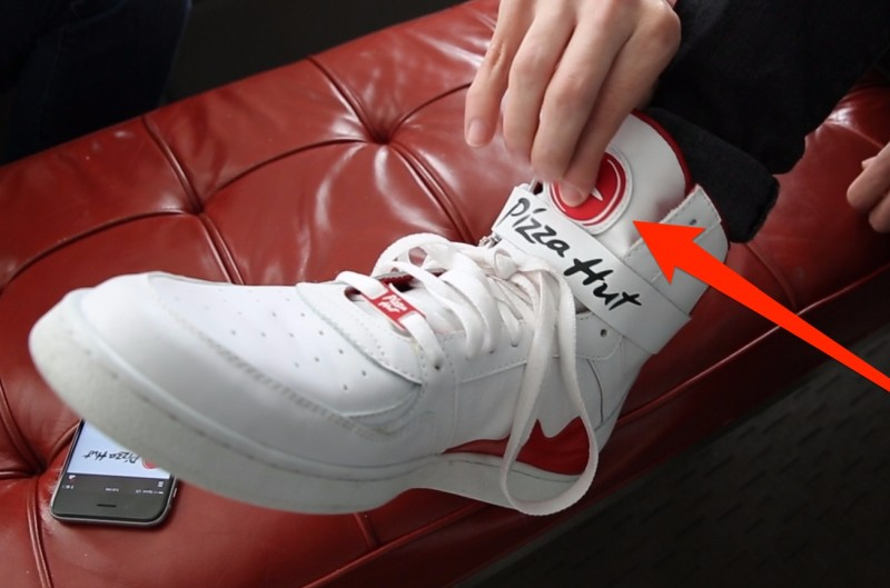 PIZZA HUT SNEAKERS THAT CAN ORDER A PIZZA