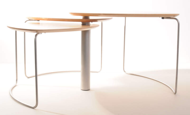 Paul Evans's Bloom consists of three tables that fit within one another to save space