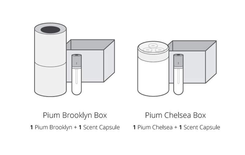 Pium smart aroma diffuser automates home fragrance