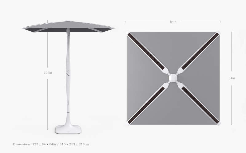 Shadecraft S Solar Smart Patio Umbrella Has Built In