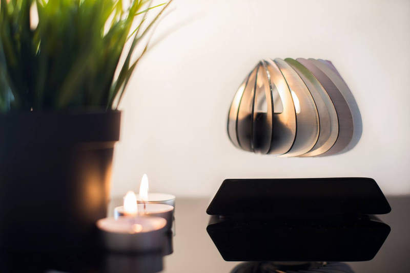 Spirale, the world's first levitating candle holder defies