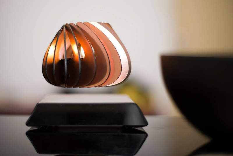 spirale the world s first levitating candle holder defies gravity