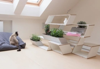Stairs to Green multi-functional furniture by Agota Rimsaite