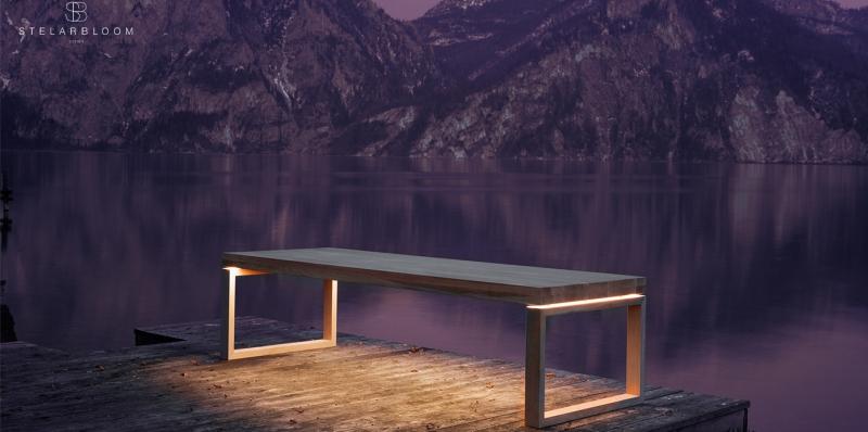 Stelarbloom designs floating table for Australian wood manufacturer Trapa_8