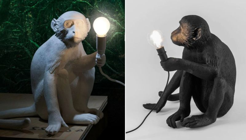 The Monkey Lamp by Marcantonio Raimondi Malerba