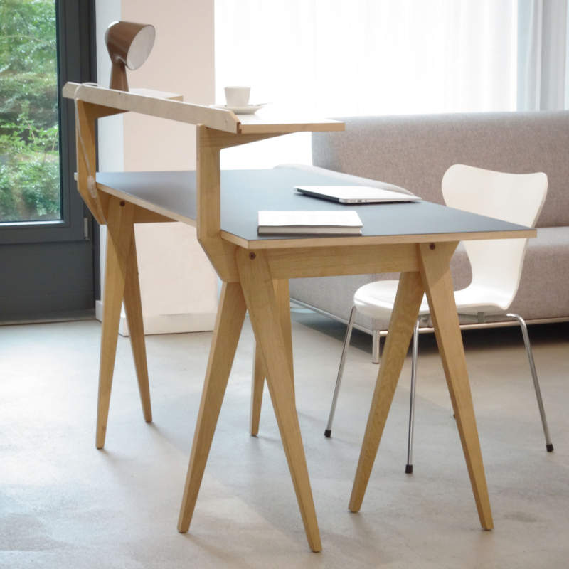 You can add second floor to this trestle table by Michael Hilgers