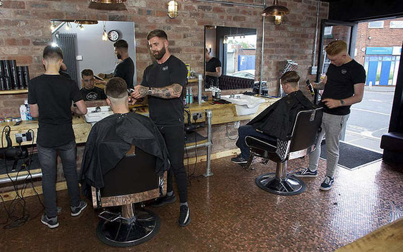 Have a look at this barber shop floor made out of 70,000 pennies