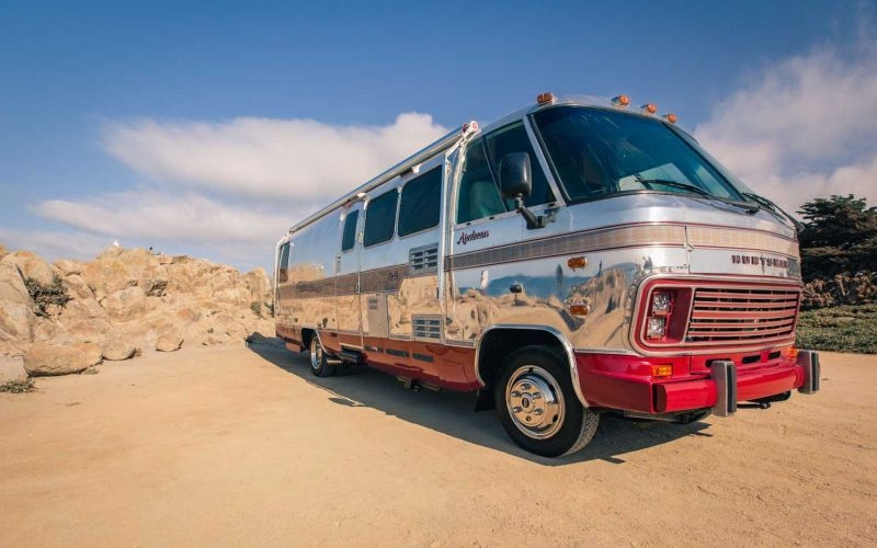 1980's vintage Airstream trailer is now Huntsman's mobile-tailoring studio