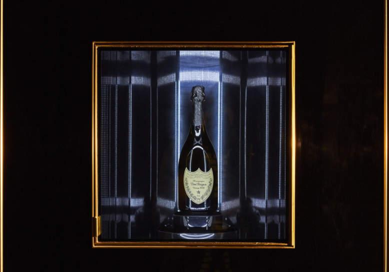 World's first Dom Pérignon champagne vending machine at Vue de Monde, Melbourne