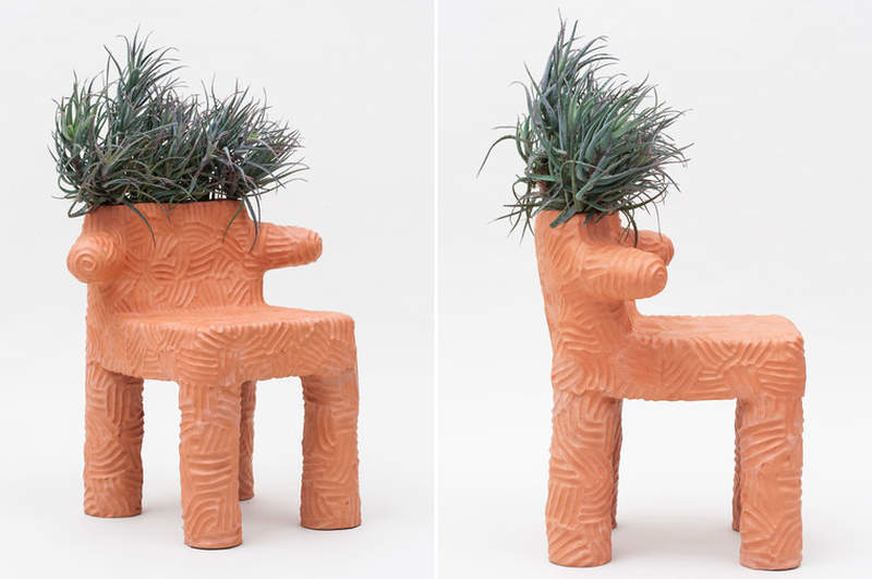 You won't hate Chris Wolston's unusual terracotta furniture