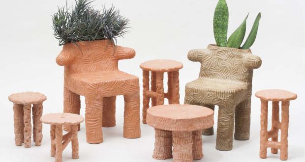 You won't hate Chris Wolston's unusual terracotta furniture