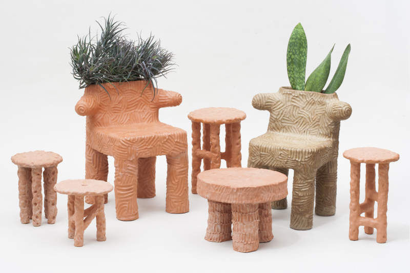 Enjoyable Youll Love To Hate Chris Wolstons Unusual Terracotta Furniture Pabps2019 Chair Design Images Pabps2019Com