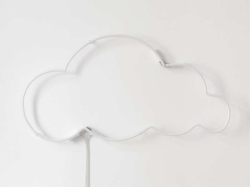 cloud 9Wall-mounted neon light