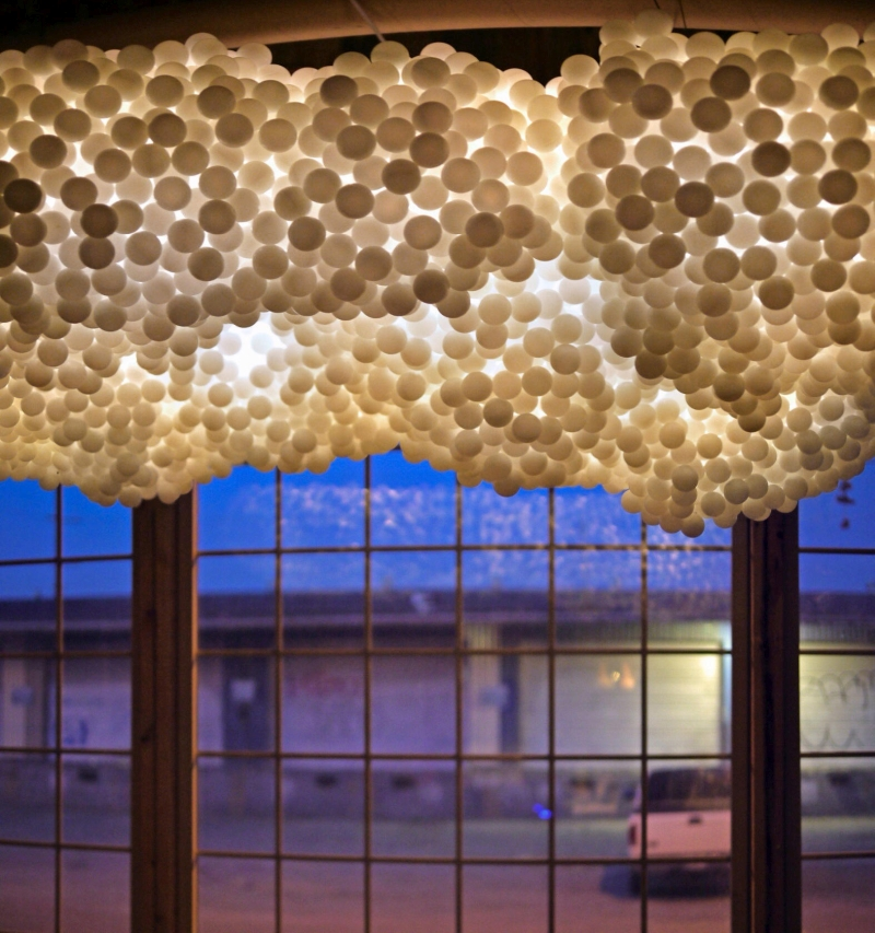cloud custom built lightning installation created for Airbnb