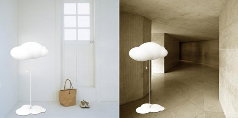 Floor cloud lamp
