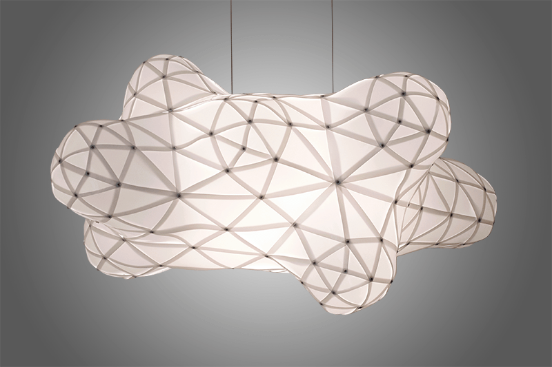 plastic cloud lamp