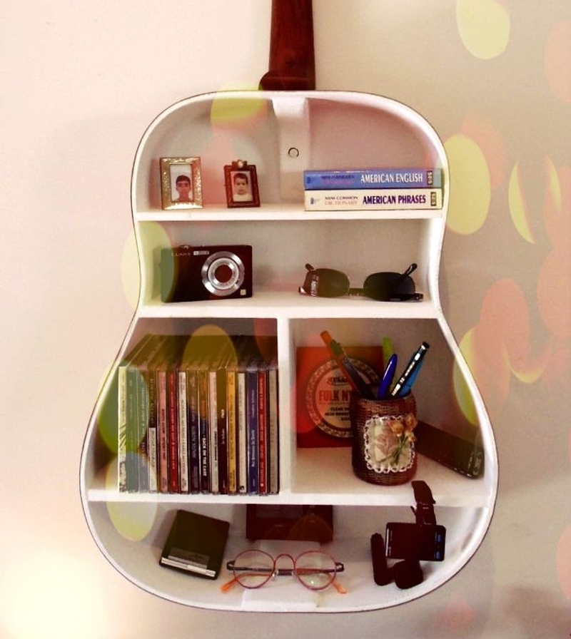 guitar book shelf