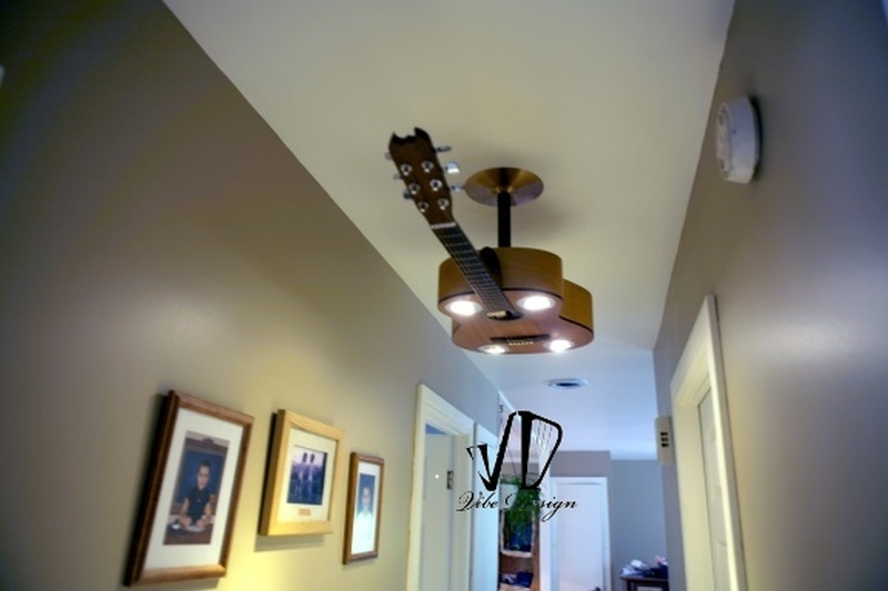 guitar celing light