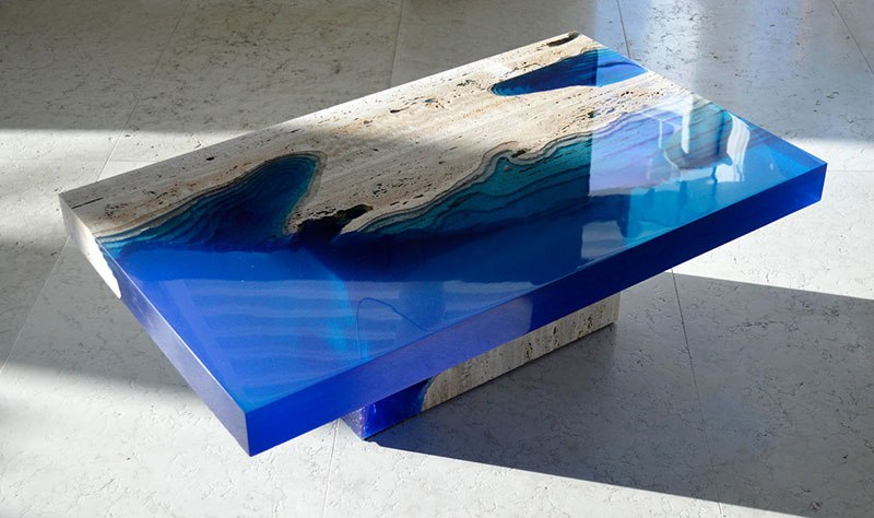 Lagoon table by LA Tables