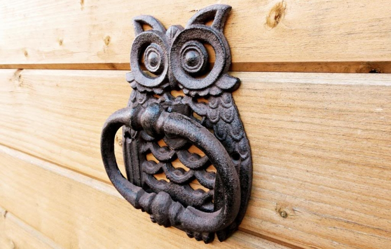 Incroyable #11 Cast Iron Molded In The Shape Of An Owl, This Door Knocker Is Perfect  To Keep A Watch On Your Front Door 24×7.