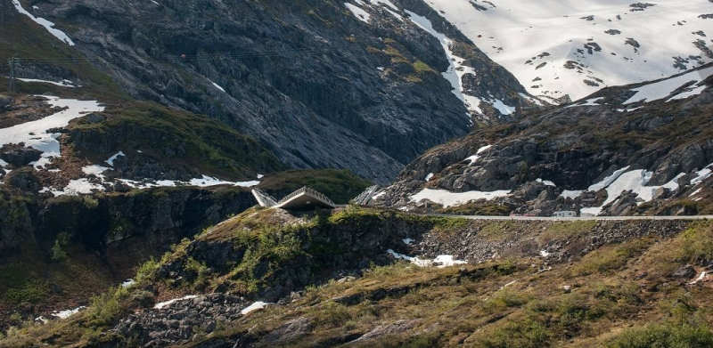triangular viewing platform in Utsikten,