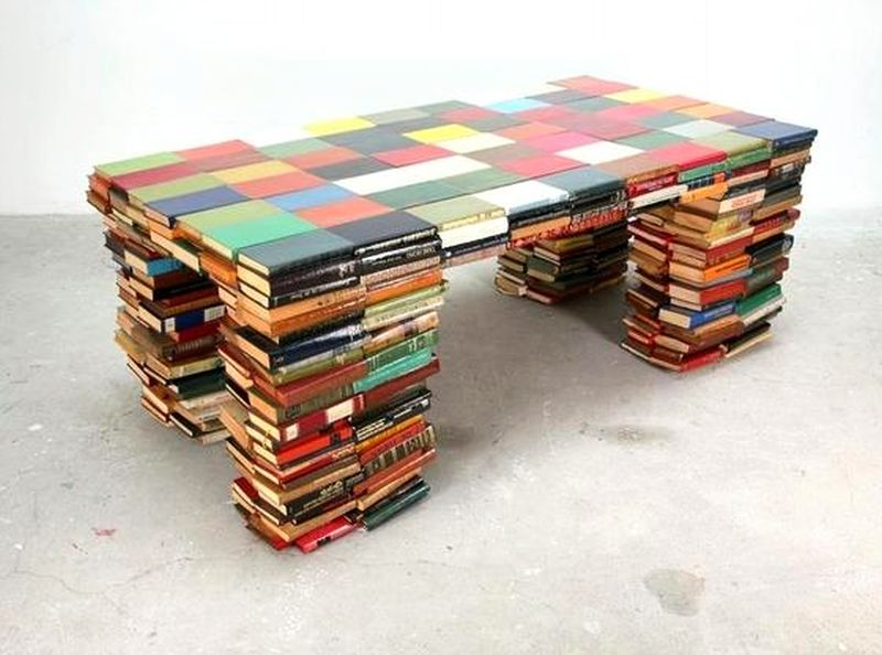 Coffee tables from old books
