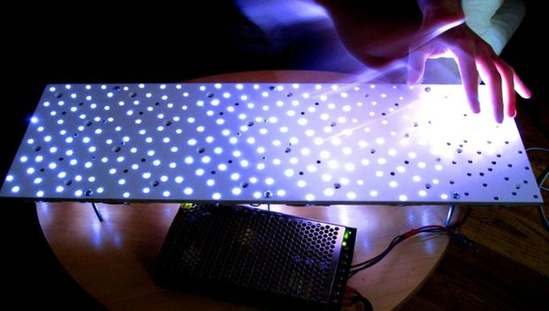 Infrared sensing coffee table